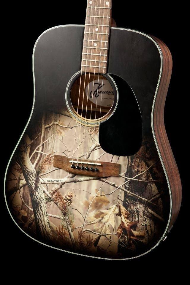 Acoustic Guitar Guitar Camo Life Camo Girl