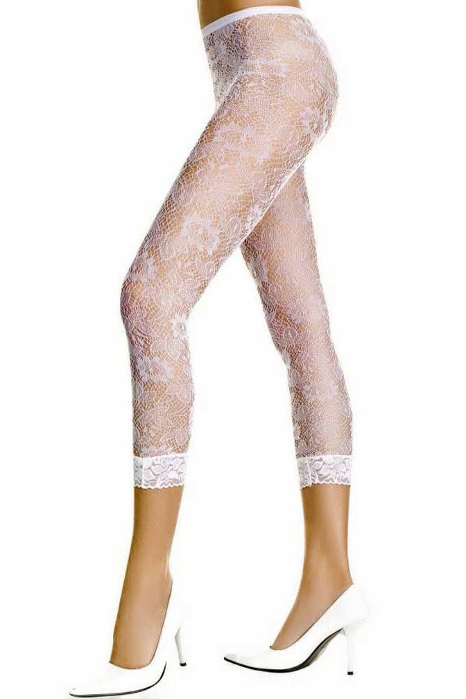 fe7d38aecb1c7 Simply beautiful, these elegant sheer lace capri length leggings are made  with your comfort and style in mind. They have plenty of stretch to ensure  a ...
