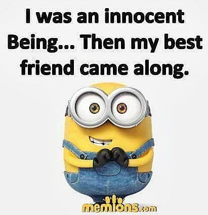 648 Likes 28 Comments Minion Quotes Official Minion Quotes On Instagram Like And Tag Your Bestie Mini Friends Funny Funny Minion Quotes Minions Funny