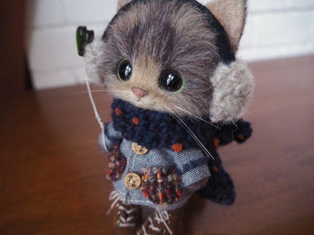 creamyのふわふわ羊毛フェルト猫ちゃん