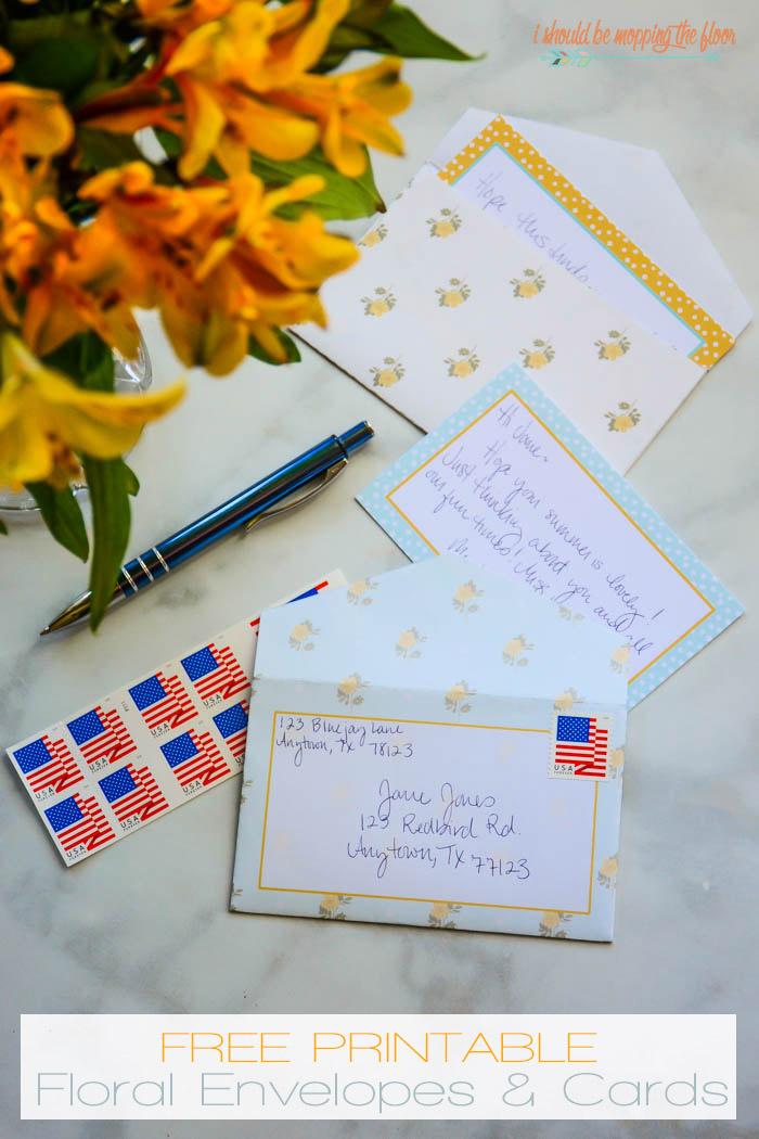 Printable 3x5 Envelopes And Cards Free Printable Stationery Envelope Template Printable Floral Printables