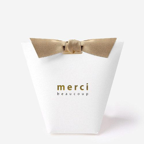 3 White Small Gift Boxes With Ribbon Unique Gift Box Merci Mini