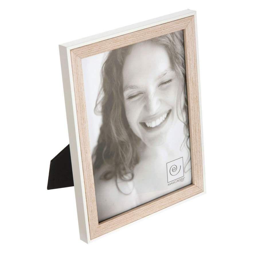 Portafotos luna madera 15x20 blanco