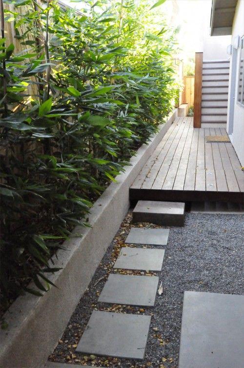 Great Modern Side Yard just add shower for outside bedroom ... on Side Yard Pergola Ideas id=87098