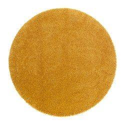 Ådum Rug High Pile Yellow Diameter 4 3 Area 14 32 Sq Feet Surface Density 10 81 Oz Ft 130 Cm 1 33 M² 3300 G