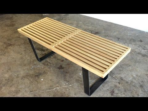 Diy Modern Slatted Bench Modern Builds Ep 40 Youtube Diy Bench Modern Diy Diy Woodworking