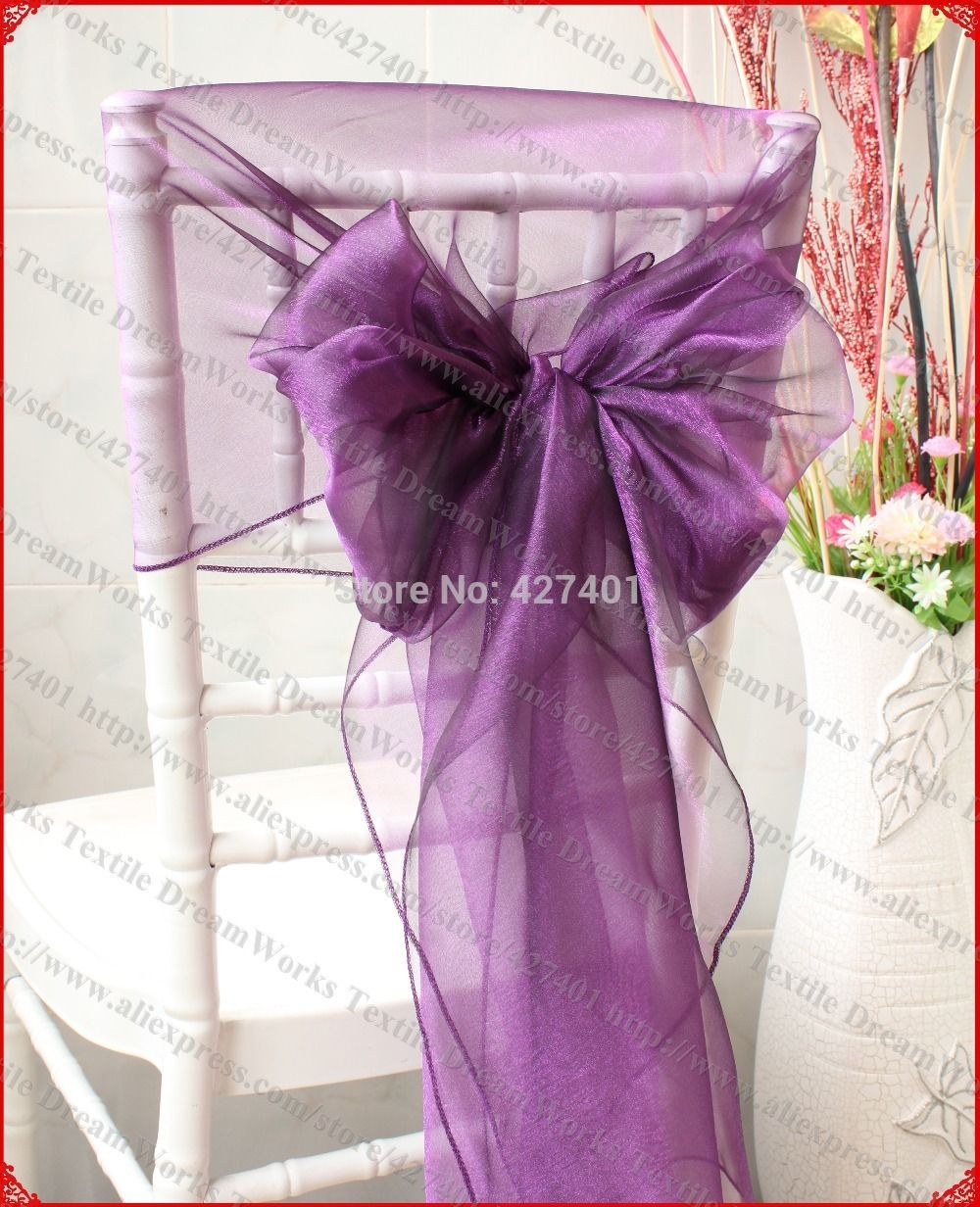 no 63 dark plum color organza chair hoods chair caps chair cover