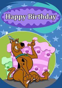 happy birthday card with scooby doo thinking Im thinking