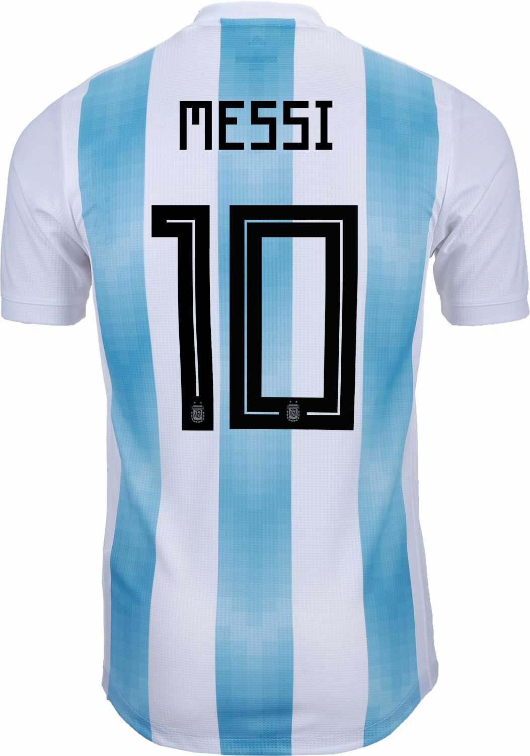 f5ccd518d5f 2018 19 adidas Argentina Authentic Lionel Messi Home Jersey. Shop for yours  at soccerpro.com