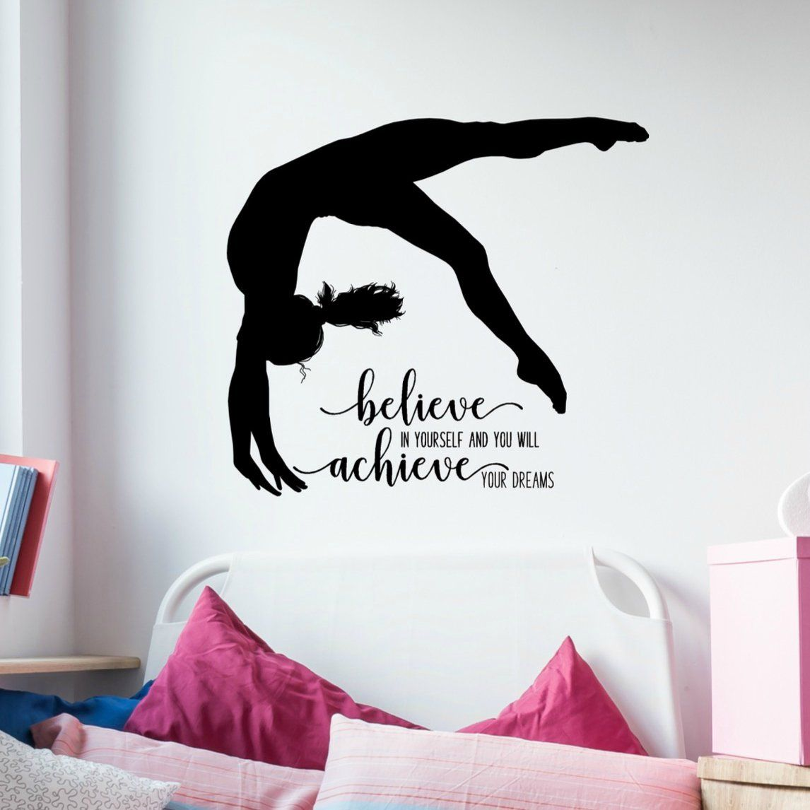 Gymnastics Wall Decals - Inspirational Quotes for Girls Boys or girls room decorations that are sure...