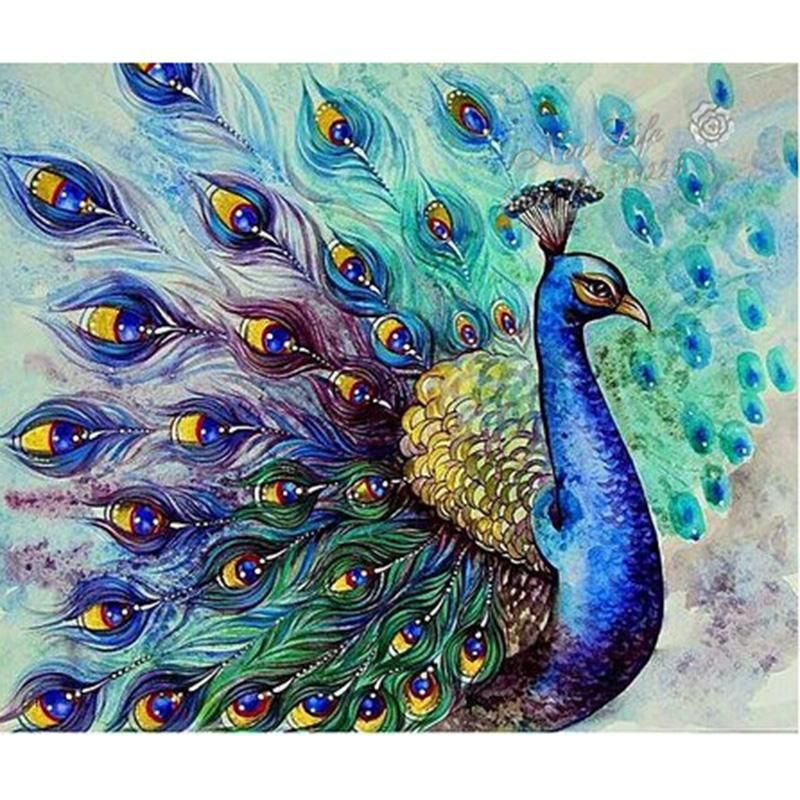 UK/_ Birds /& Cats Full Drill 5D Diamond Painting Embroidery Cross Stitch Kit Exot