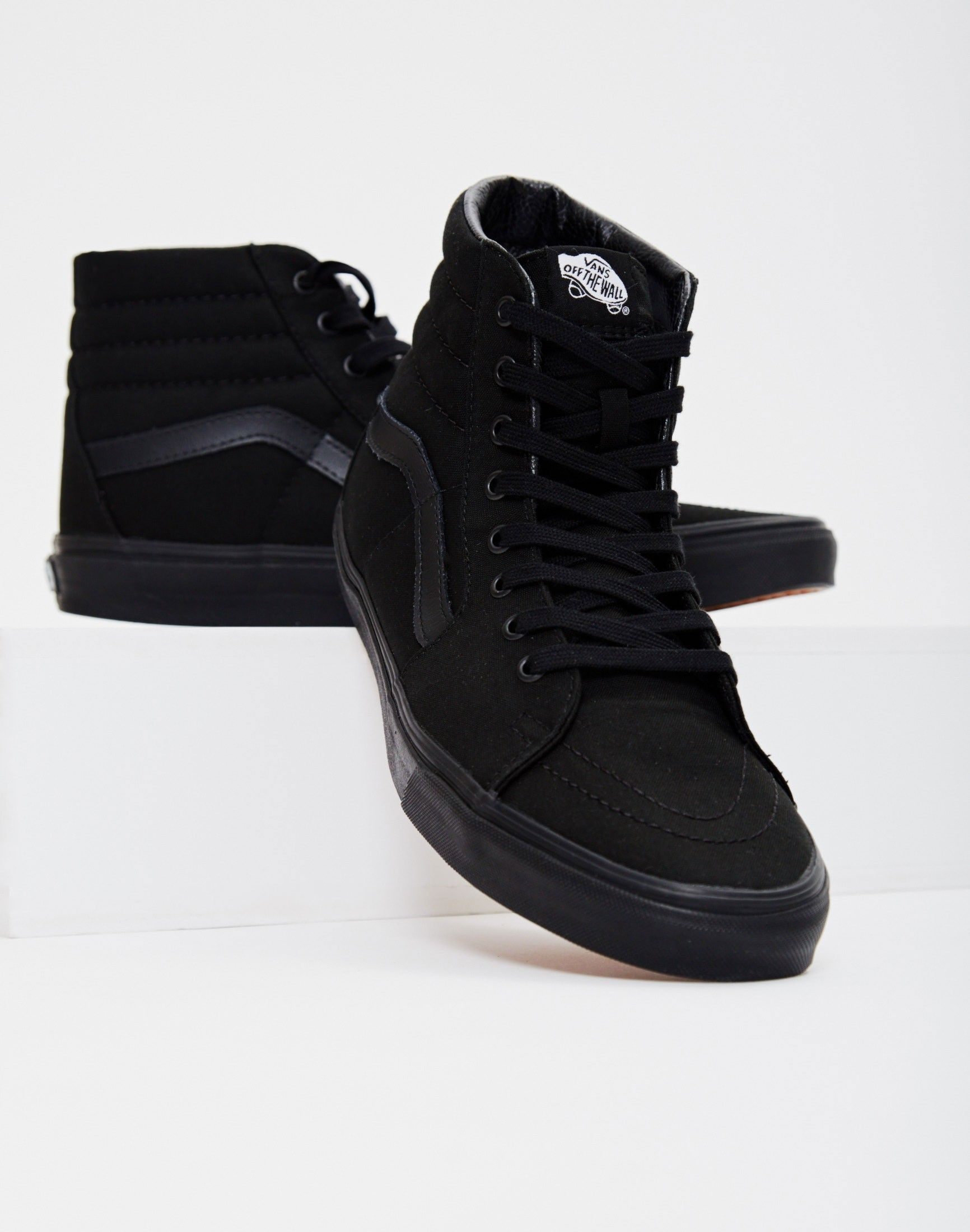 best service 475eb 78f05 Vans Sk8-Hi Trainers All Black   SHOP NOW at The Idle Man    StyleMadeEasy