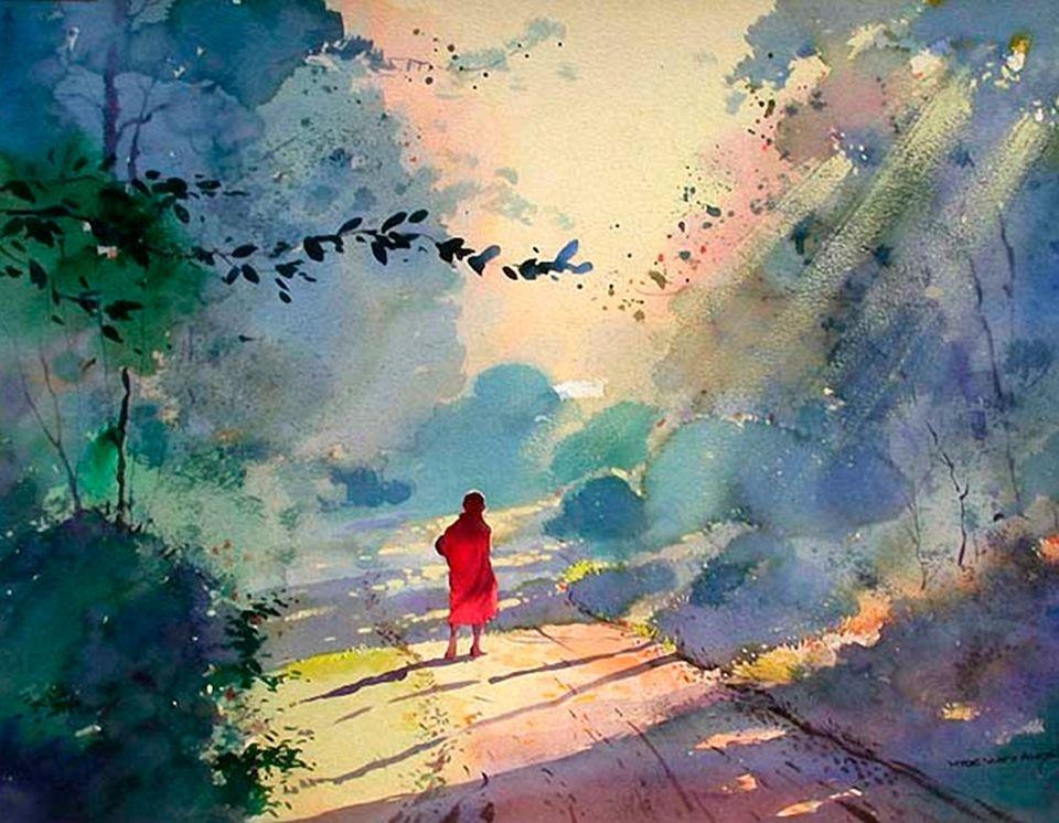 Myoe Win Aung 1972 Comment Peindre Aquarelle Et Illustration D