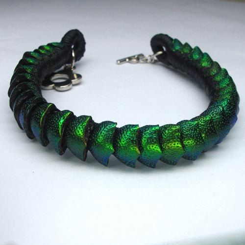 Hey, I found this really awesome Etsy listing at https://www.etsy.com/listing/271996990/natural-beetle-wing-green-bracelet