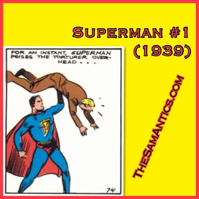 Superman #1 (1939). Man-crush Monday. Literally.