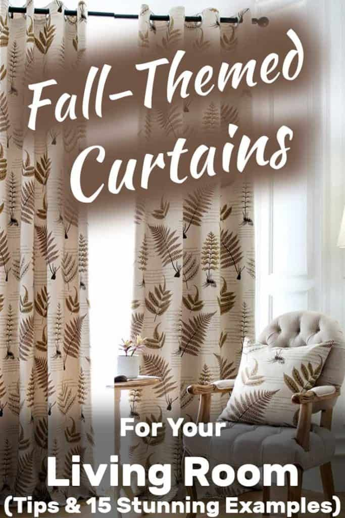 Fall themed curtains for the living room. Article by HomeDecorBliss.com #HDB #HomeDecorBliss #homedecor #homedecorideas #fall #fallstyle #curtains #curtainslivingroom #livingroom #livingroomideas #livingroomdecor #livingroomdecorations #livingroom