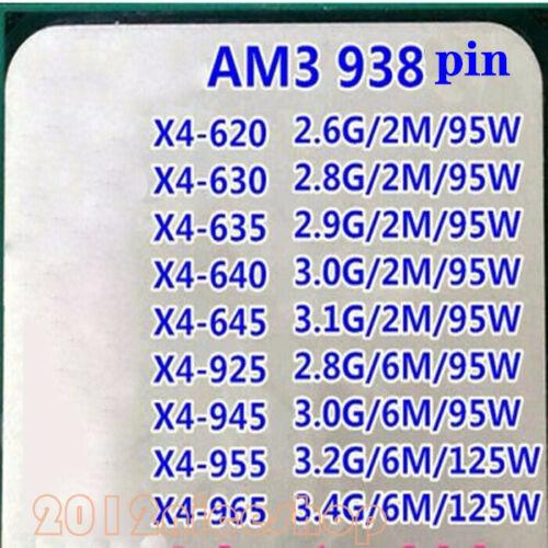 Amd Athlon Ii X4 620 X4 630 X4 635 X4 640 X4 645 Socket Am3 Cpu Processor Ebay In 2020 Athlon Amd Processor