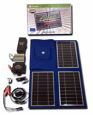 24 Watt Portable Solar Panel Emergency Survival Disaster Bug Out Bag Gear Portable Solar Panels Solar Kit Solar Panels
