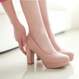 Buy 'Gizmal Boots – Platform Block Heel Pumps' with Free International Shipping at YesStyle.com. Browse and shop for thousands of Asian fashion items from China and more!
