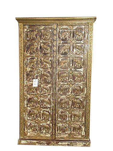 Antique Indian Cabinet Elephant Armoire Furniture Indian Almira Mogul Interior http://www.amazon.com/dp/B015OES8VY/ref=cm_sw_r_pi_dp_F5ytwb09T0HW4