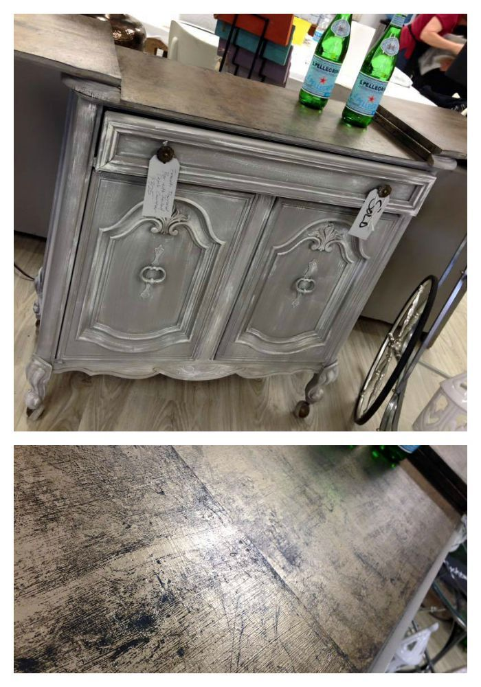 Fabulous Portable Bar Makeover By Catfish Studios! Artisan Enhancements  Leaf And Foil Sized Was Used