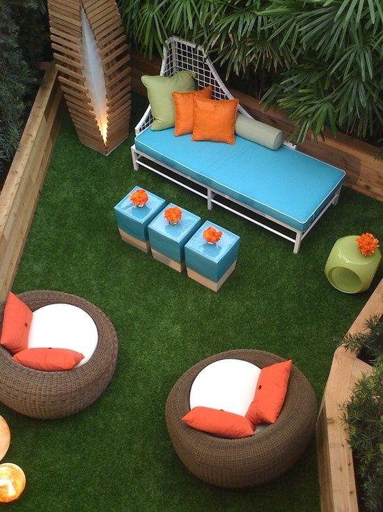Terrassen Mobel Ideen Blau Orange Sessel Sofa Dies Und Das