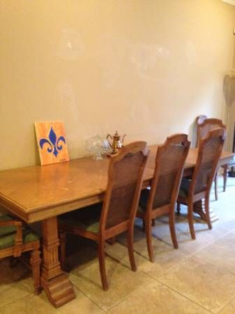 Solid Wood 6 Chair Dining Room Table With Matching China Cabinet In Jen1126s Garage Sale Marrero LA For 800