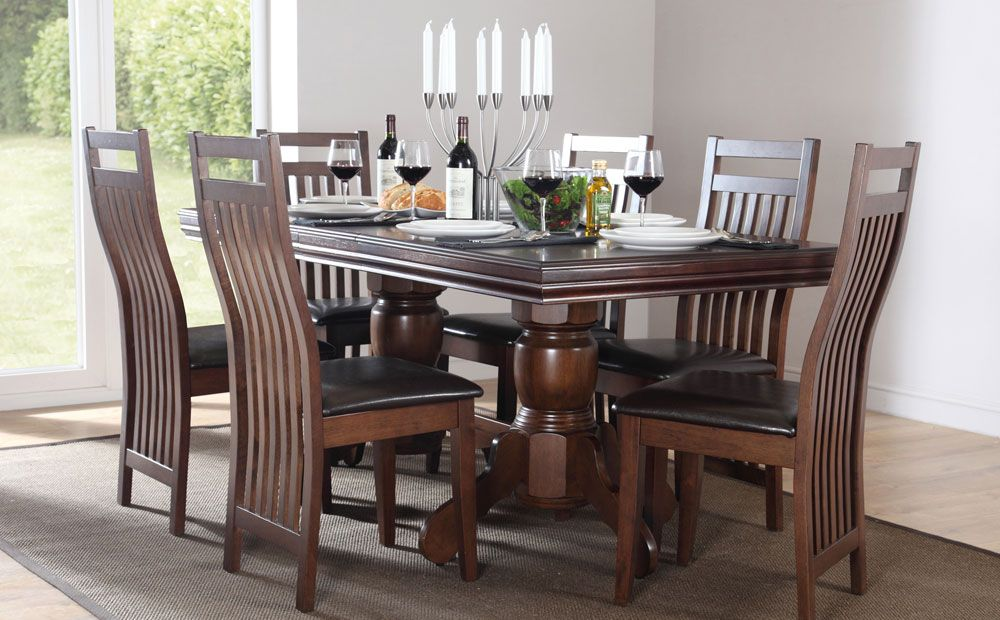 0851674901 Chatsworth & Java Extending Dark Wood Dining Set Only £499.99 | Furniture  Choice