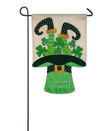 Leprechauns Welcome Outdoor Flag Zulily Zulilyfinds