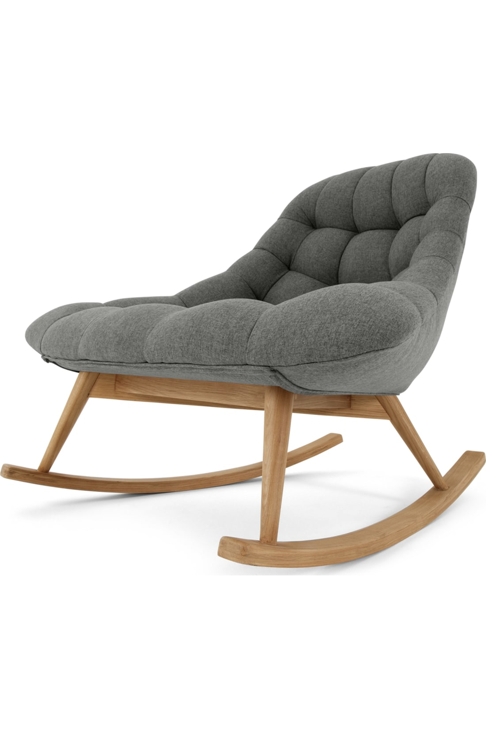 Made Lounge Sessel Grau Rocking Chair Chair Outdoor Rocking