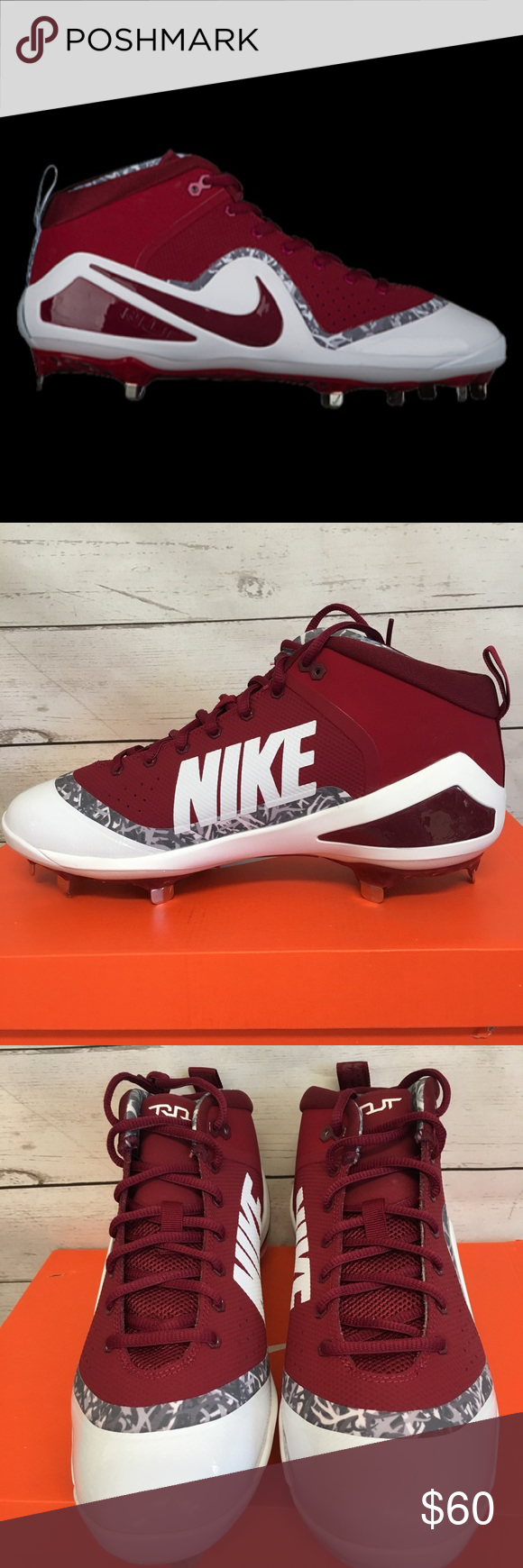 the best attitude d05e7 e97c0 Nike Force Zoom Trout 4 Baseball Metal Cleats Nike Mens Size 10.5 Force  Zoom Trout 4