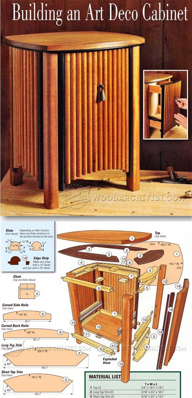 Art Deco Cabinet - Furniture Plans and Projects | WoodArchivist.com ...