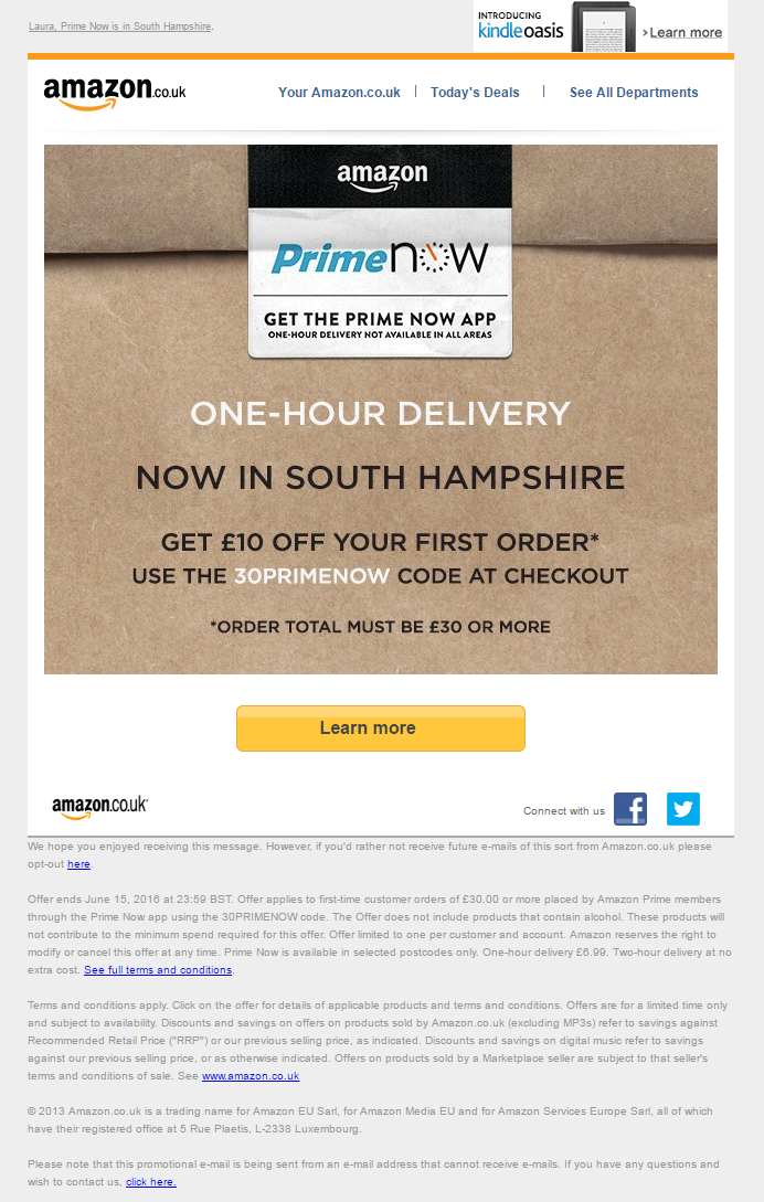 Name And Location Personalization Email With Discount Coupon Code