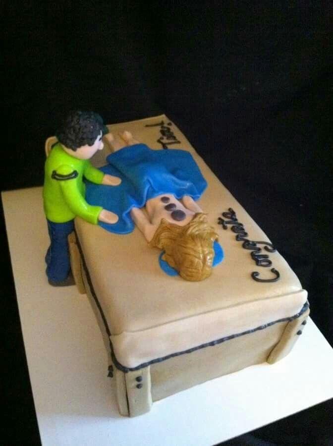 Massage therapist cake.