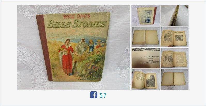 Wee Ones #Bible #Stories #Antique 1903 Little Folks Bible #Book #gotvintage http://www.etagerellc.com/store/p167/Wee_Ones_Bible_Stories_|_Antique_1903_Little_Folks_Bible_Book_.html