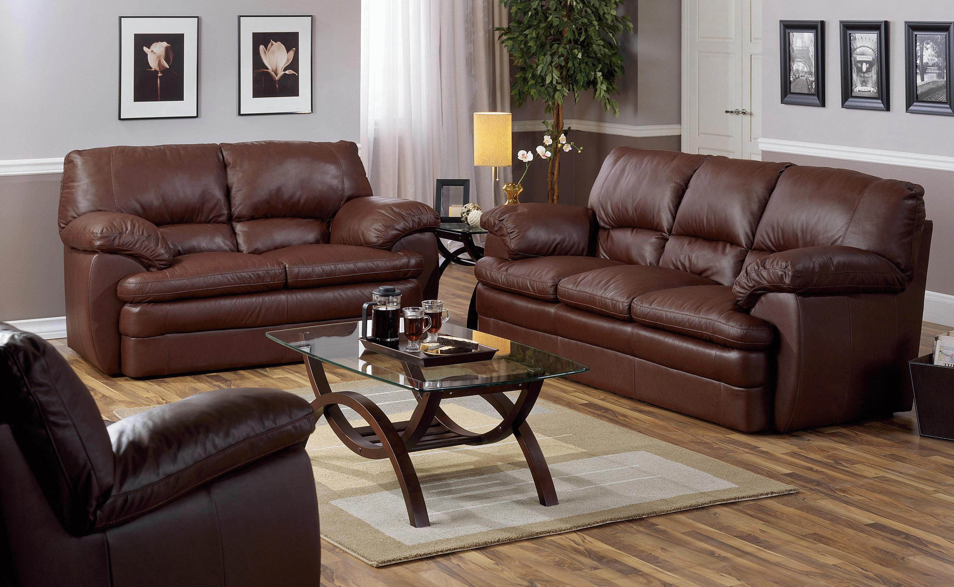 MARCELLA PILLOW TOP SOFA BY PALLISER leather fortable