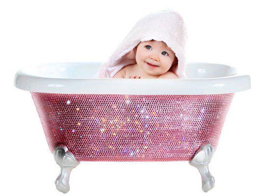 Baby bath with Swarovski crystals   Glitters   Pinterest ...