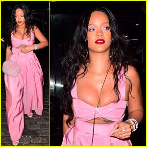 c15852f92742 Rihanna Looks Incredible in Pink Jumpsuit for Dumbo Dinner ...