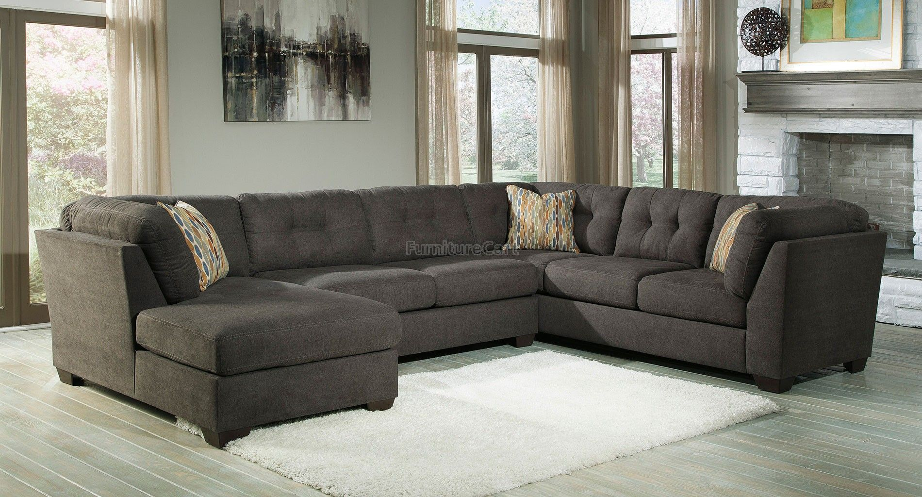 Delta City Steel Left Chaise Sectional | ASHLEY FURNITURE ...