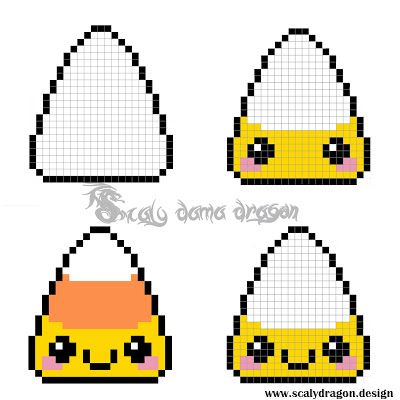 Servilletero candy corn Kawaii hecho con Hama beads | DIY | Mil ideas Scaly Dama Dragon