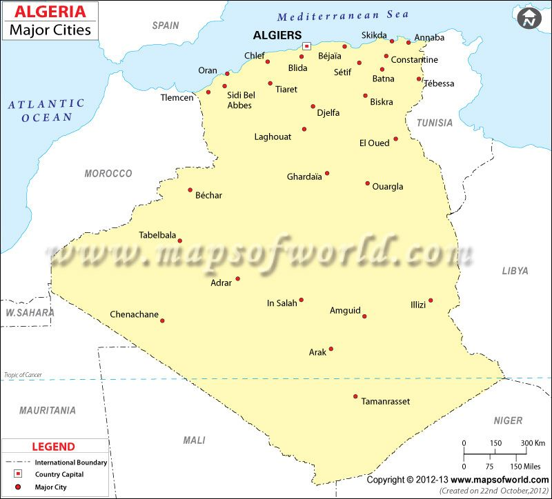 map of algeria with cities Google Search MAPS Pinterest City