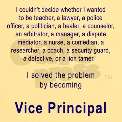 Vice Principal Light T Shirt Vice Principal White T Shirt By