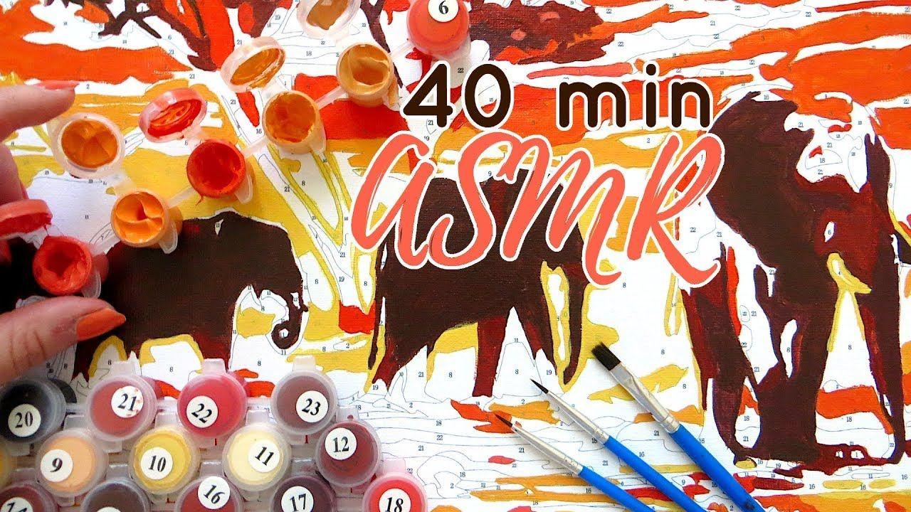Asmr No Talking paintnumbers asmr pt. 2    painting sounds - no talking