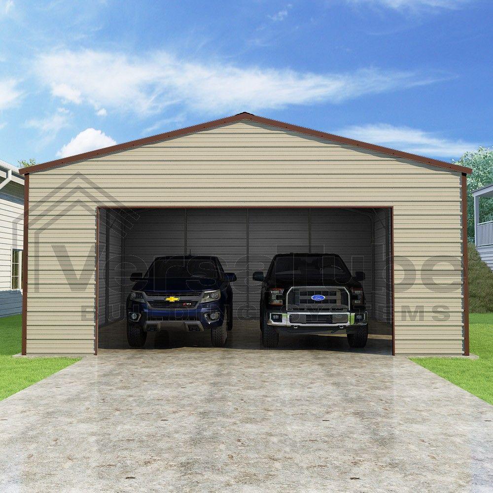 Frontier Garage 24 X 24 X 10 Metal Building House Plans Steel Garage Kits Steel Garage