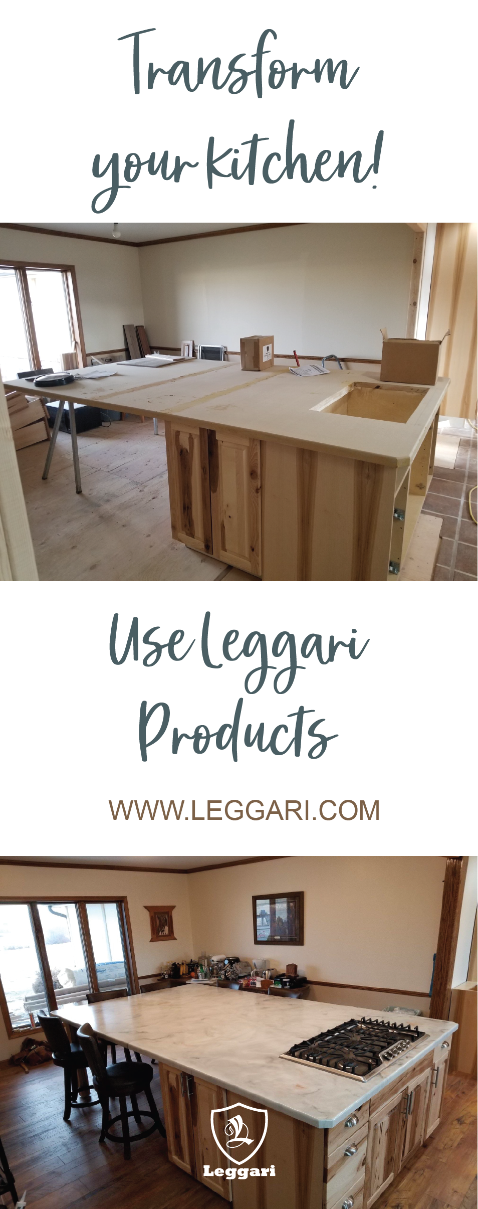 Transform your kitchen today! Use Leggari products to coat