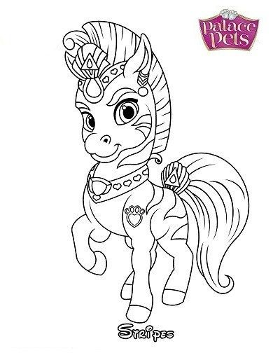 Stripes From Palace Pets Coloring Pages Disney Princess Coloring Pages Disney Coloring Pages Princess Coloring Pages