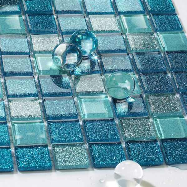 crystal glass backsplash kitchen tile mosaic design art mirrored wall  stickers bathroom shower floor mirror tiles - Blue Kitchen Backsplash. Rental Kitchen Makeover Blue Kitchen Home