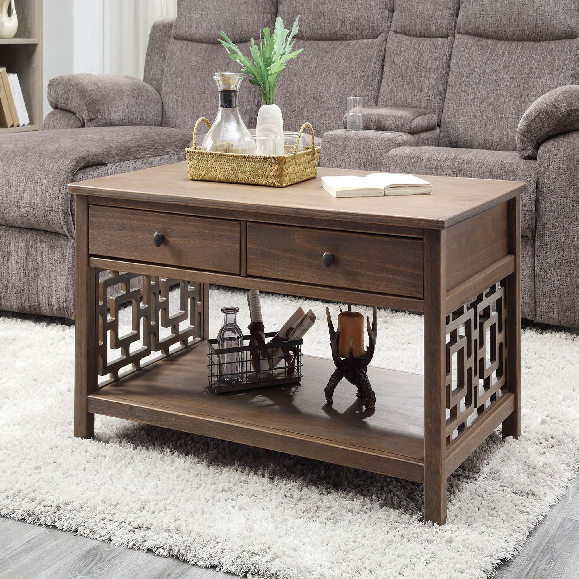 Linon Hardy Coffee Table Brown Coffee Table Wood Coffee Table