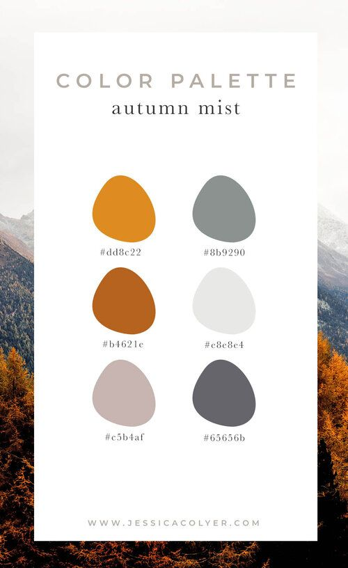4 Cozy Color Palettes For Autumn Jessica Colyer Designer Brand Strategist For Creatives Cozy Colors Palette Brand Color Palette Fall Color Palette