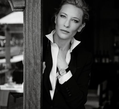 Cate Blanchett and Emily Blunt dressed to the nines in an